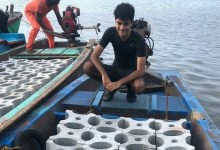 Artificial reef building by India's Siddharth Pillai and Temple Adventures