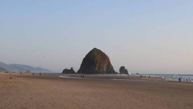 Photo of Haystack Rock Oregon Coast