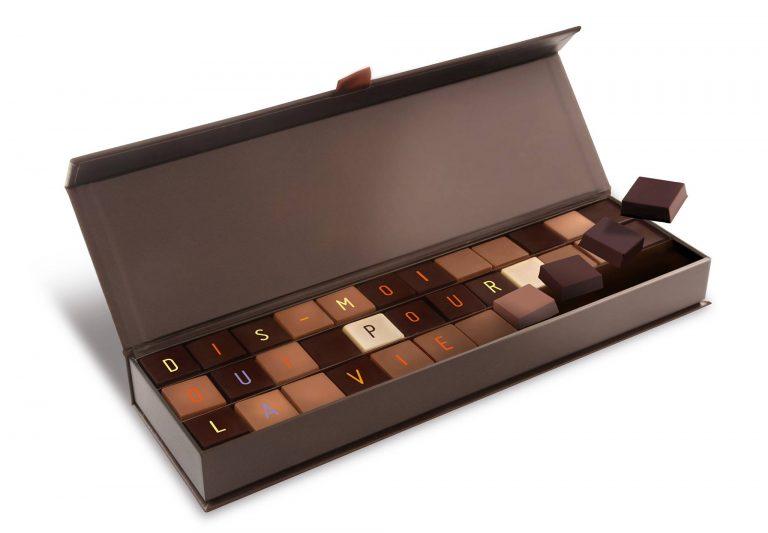 Télégramme en chocolat de chez Chocol@ et Darcis