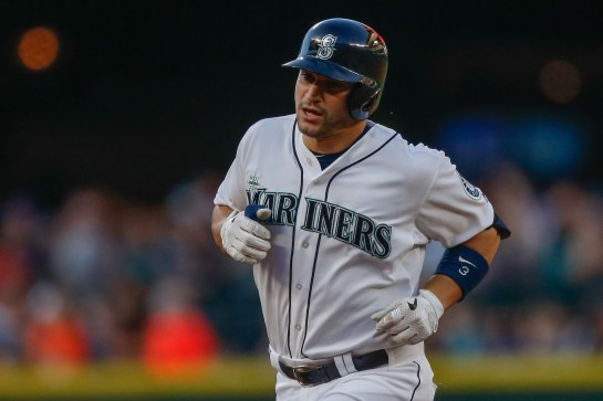 SEATTLE, WA - JULY 28: Mike Zunino #3 of the Seattle Mariners rounds the bases after hitting a solo home run in the third inning against the Arizona Diamondbacks at Safeco Field on July 28, 2015 in Seattle, Washington. (Photo by Otto Greule Jr/Getty Images)