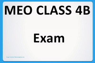MEO Class 4B, MEO Class 4B Written and Orals, meo class 4