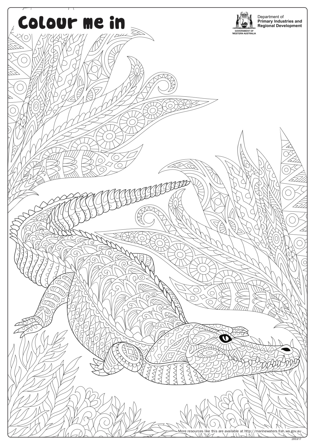 Fishy Fun Sheet Crocodile