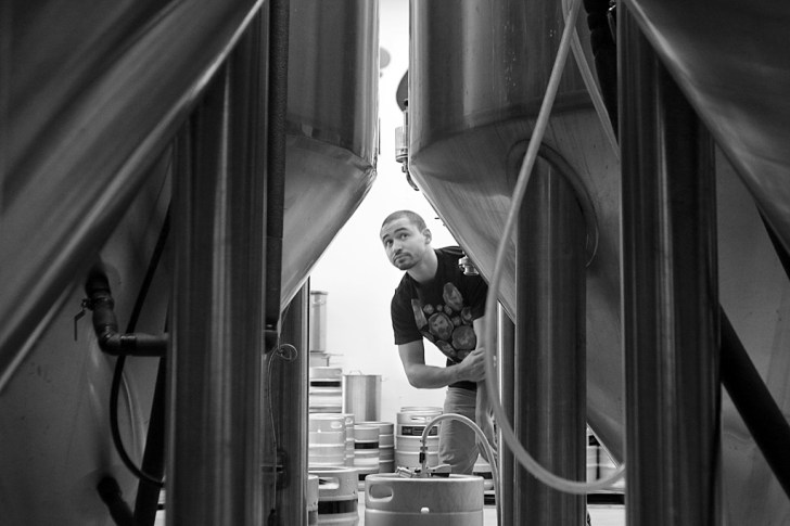 Steel & Oak has seven beer tanks that can hold a total of 270,000 litres of beer.