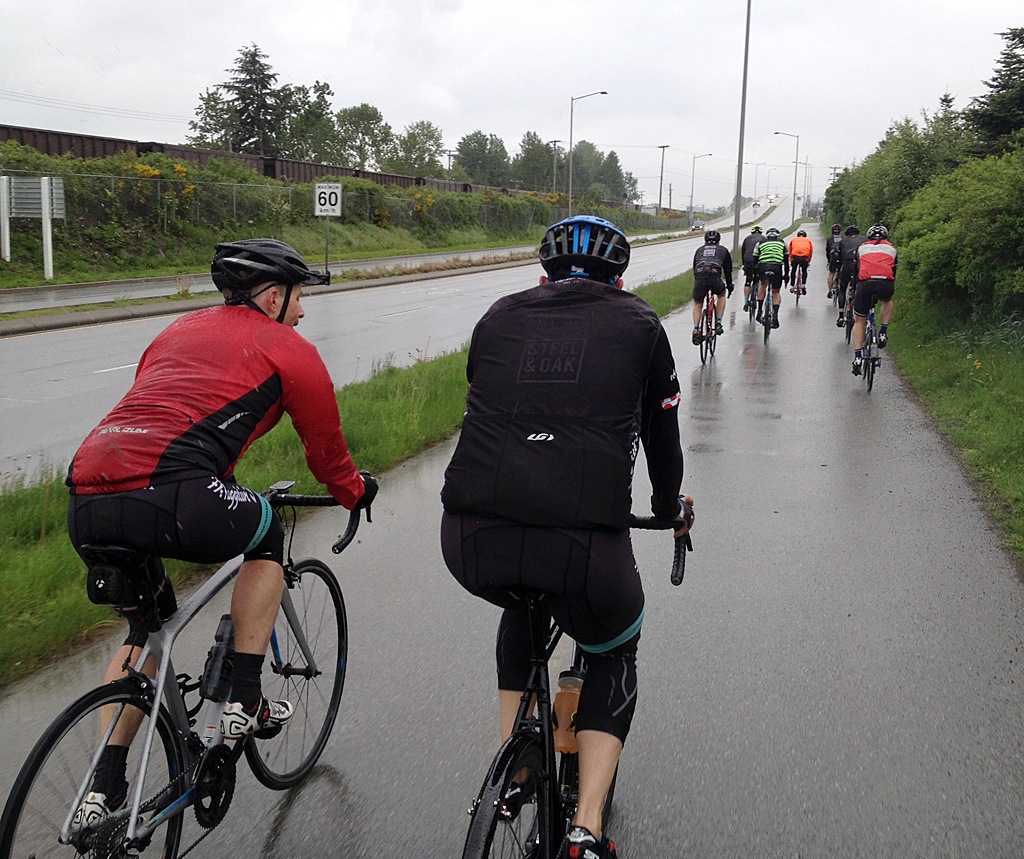 The further east we ride, the wetter we get.