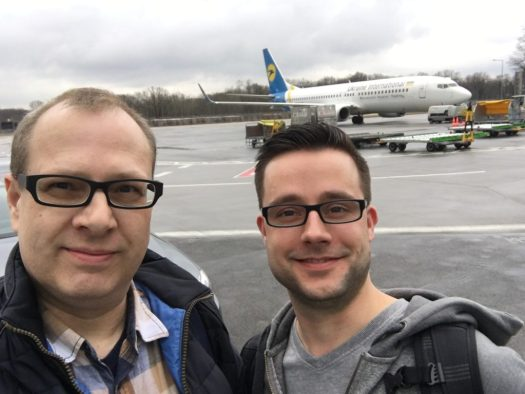 Start mit Sandro via Ukraine international Airline nach Kiev Ukraine