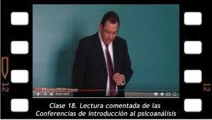 Clase 18. Lectura comentada de las Conferencias de introducción al psicoanálisis