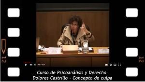 Curso de Psicoanálisis y Derecho. Dolores Castrillo. Concepto de culpa