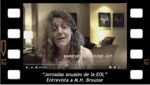 Entrevista a Marie Hélène Brouse sobre las Jornadas de la EOL