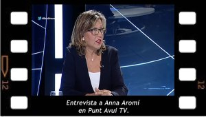 Entrevista a Anna Aromí en Punt Avui TV.