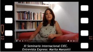 Marita Manzotti, entrevista express sobre el Seminario Internacional del CIEC