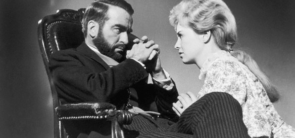"1962 --- Montgomery Clift and Susannah York in the 1962 film ""Freud"" (Freud, Passions Secretes), directed by John Huston. --- Image by © Sunset Boulevard/Corbis"