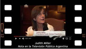 Nota de Judith Miller en la TV