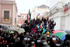 Proteste Ejército Zapatista de Liberación Nacional, spesso (EZLN) in Messico.