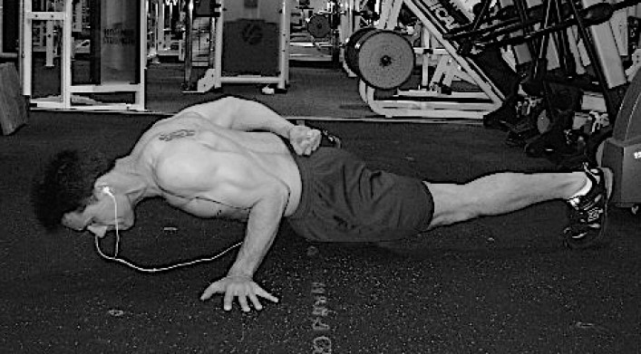 1 arm pushup