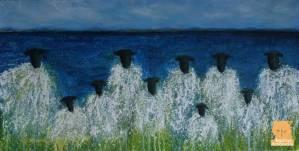 Lambic Pentameter sheep painting