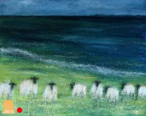 Grazing the Minch painting by Marion Boddy-Evans