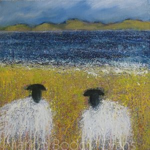 Just the Two of Us sheep painting