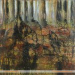 Rooted tree painting by Skye artist Marion Boddy-Evans