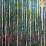 Listening to Trees painting by Marion Boddy-Evans
