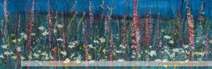 Edges: Flower Show Painting by Skye artist Marion Boddy-Evans