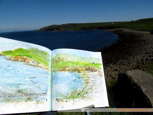 Skye  Sketching: Duntulm Castle