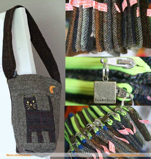 Tweed bag and zip purses from Isle of Skye Art Studio