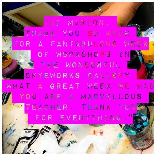 Workshop Feedback Isle of Skye Art Studio