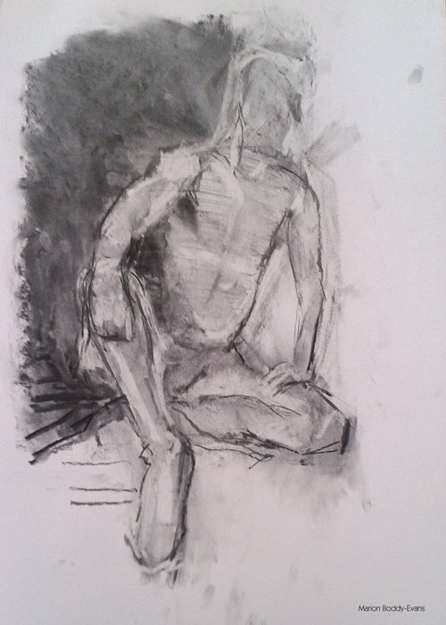 Charcoal life drawings