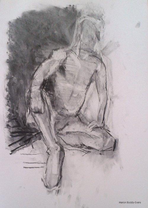 Charcoal life drawings