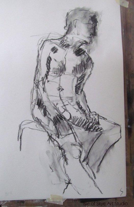 Charcoal life drawing