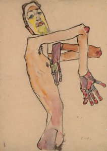 Courtauld Schiele Nude with Crossed Arms