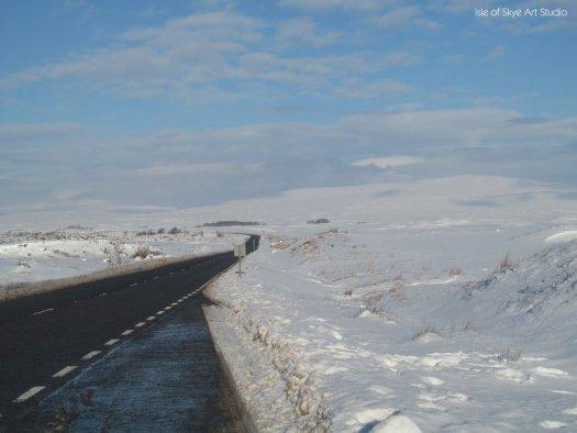 Snow: Rannoch Moor looking north