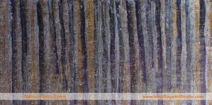 Nocturnal Trees painting by Skye artist Marion Boddy-Evans