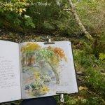 Sketching Uig Woodland Skye Autumn Colours