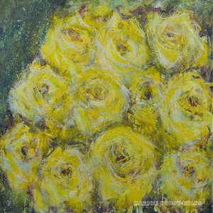 Gentle Melody yellow roses painting