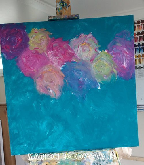 Painting in Progress: Symphony in White 2