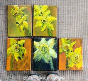Daffodil paintings Marion Boddy-Evans