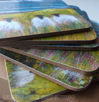 Sheep coasters set by Marion Boddy-Evans