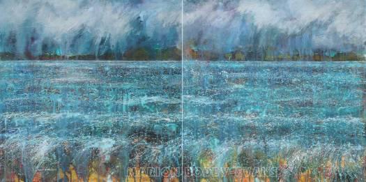 Moods of the Minch: Lambing Snow Showers Painting