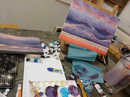 Higham Hall Workshop: Sunset painting