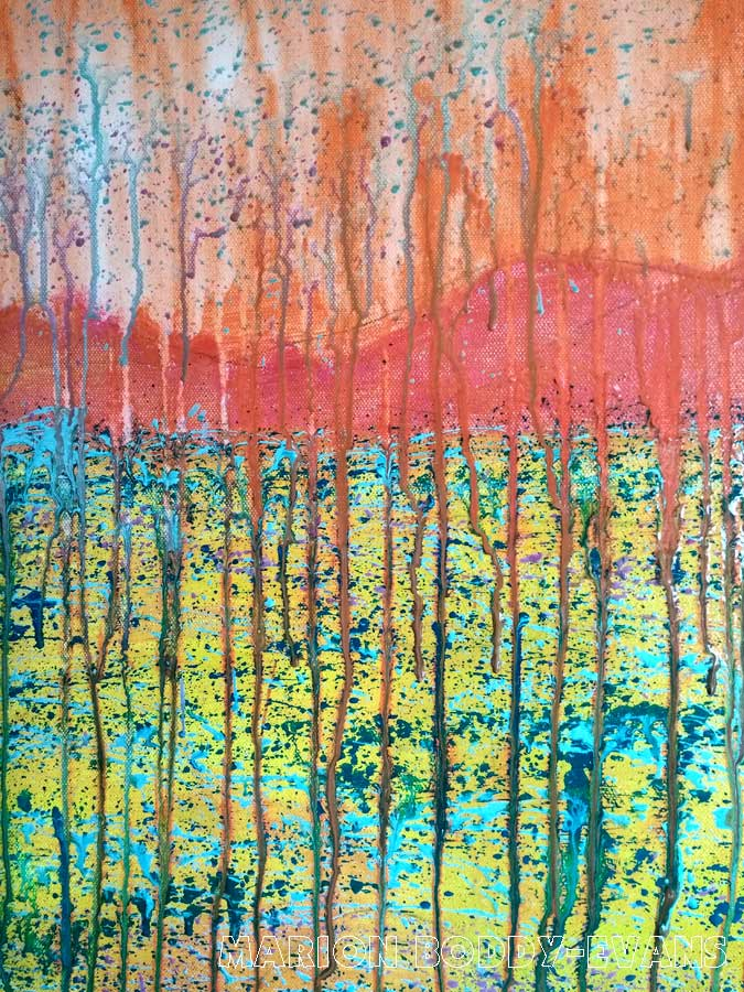 Dripping paint mixing by Marion Boddy-Evans