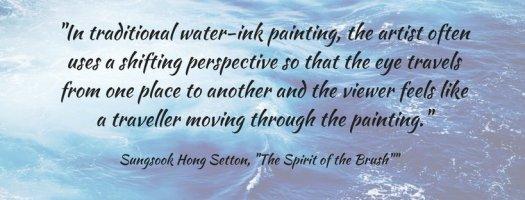 art quote water brush painting