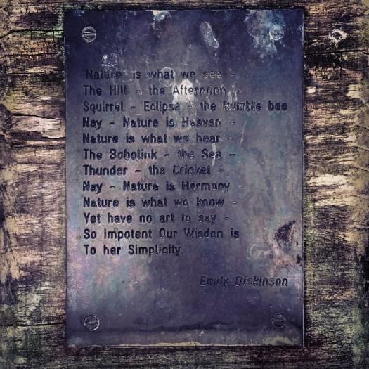 higham Hall Dickinson poem quote garden