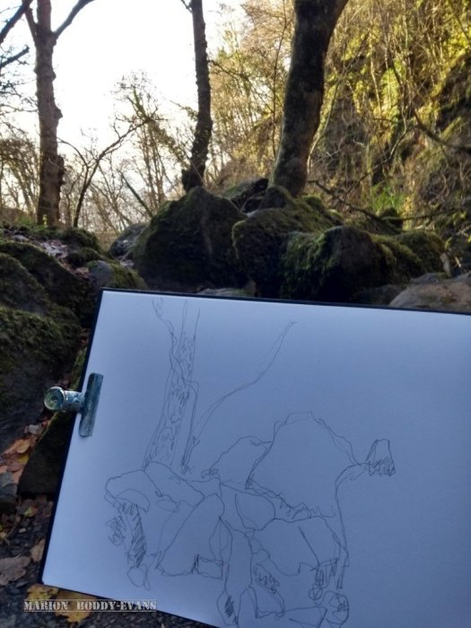 River Rha sketching
