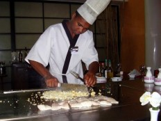Chef at the Japanese Restaurant on-site