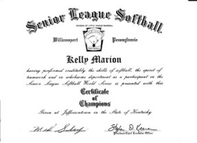 Certificate of Champions