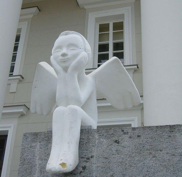 Schutzengel, Rathaus Vilnius, Litauen
