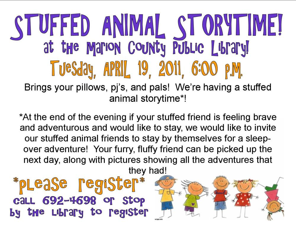 Stuffed Animal Storytime!