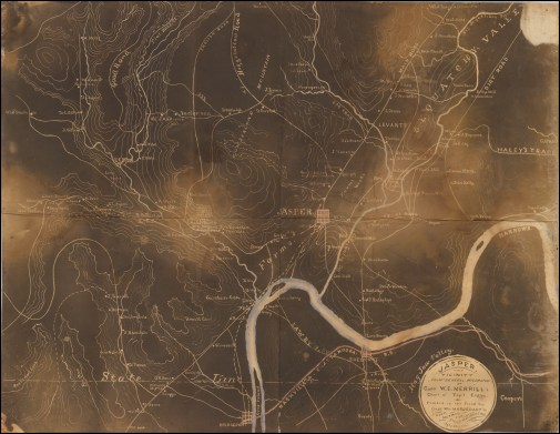 1863 Civil War Map of Jasper and the Surrounding Area
