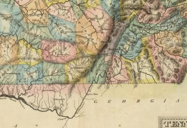 1822 Fielding Lucas Map